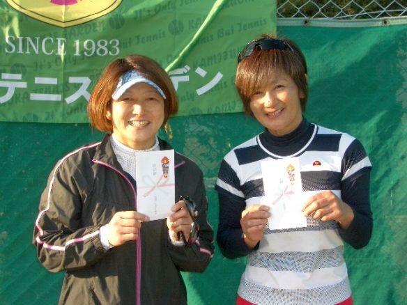 準優勝:小平 佳寿栄・高橋 陽子 組(サントピアTC・スプリングハズカム)