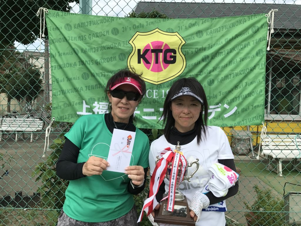 優勝した中館喜代美(左)・渡邊あき(フリー・GOOD LUCK!)組。