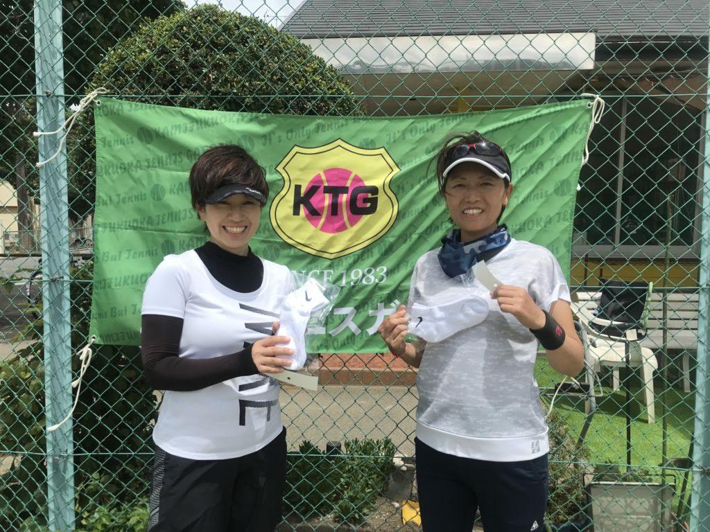 コンソレ優勝の秋山夏子・勝部美紀(みんなのテニス)組。