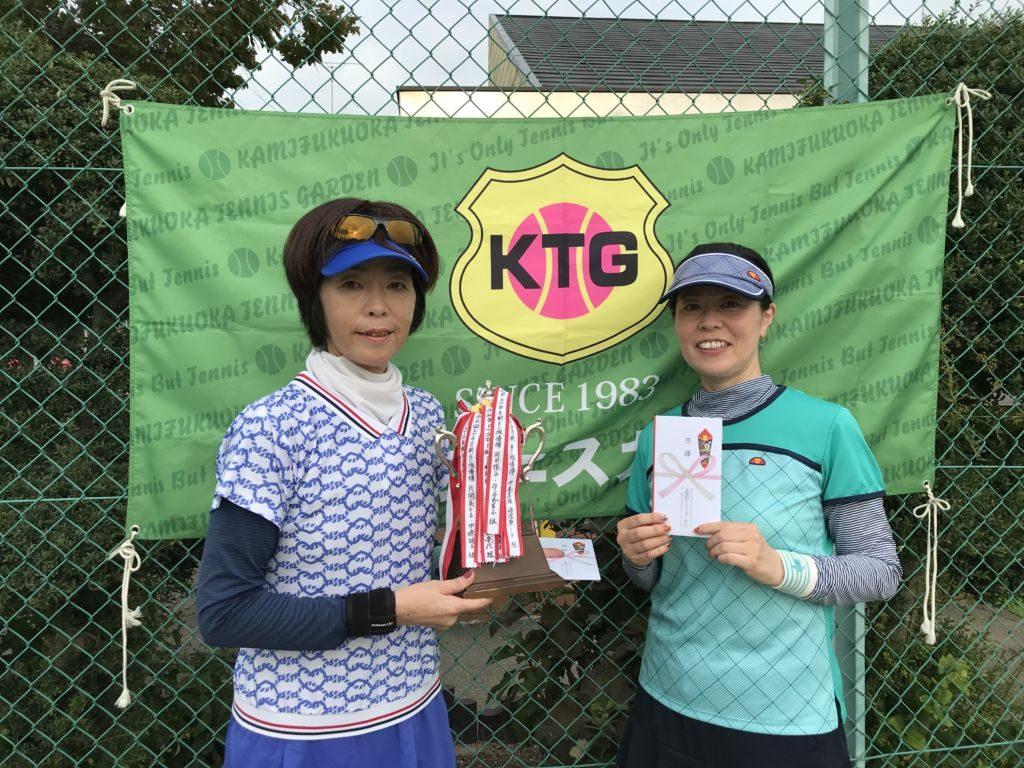 優勝した馬場美幸・舘島恵(さくら組・MET)組。