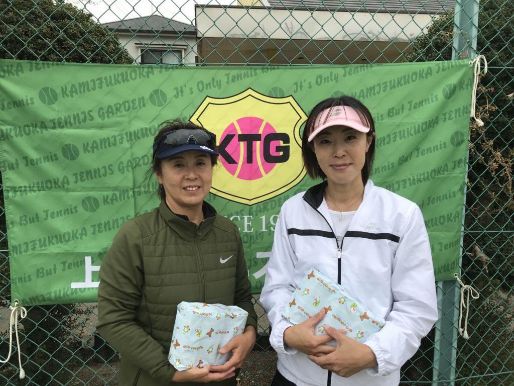 3位の金子広美・小泉美枝子(みんなのテニス)組。