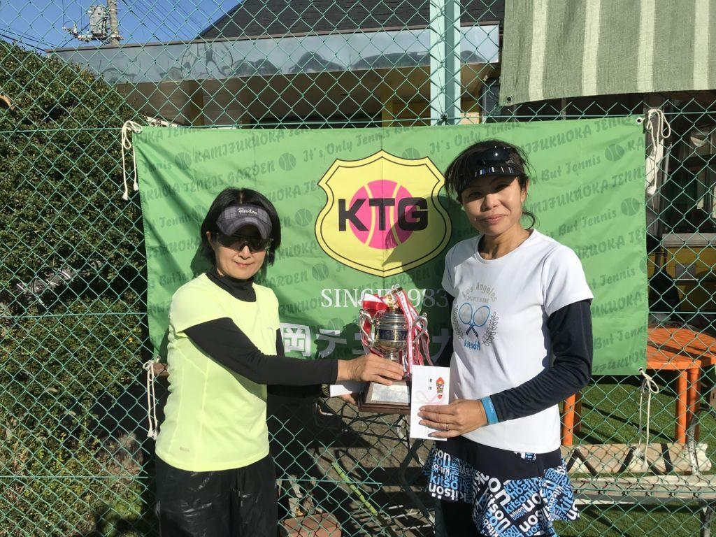 優勝した原田永里子・小林裕美子(フリー)組。